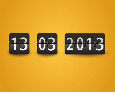 Countdown timer, date,  vector illustration stock vector