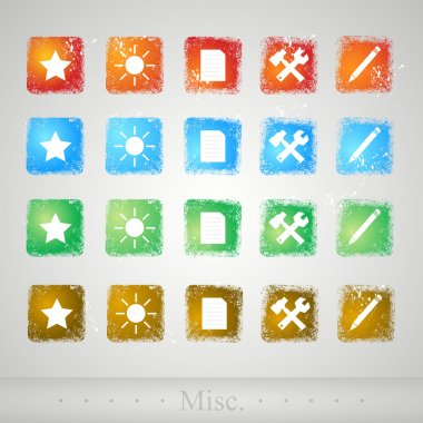 Set of buttons for web. Vector illustration. stock vector