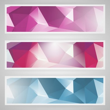 Vector set of abstract banners. stock vector