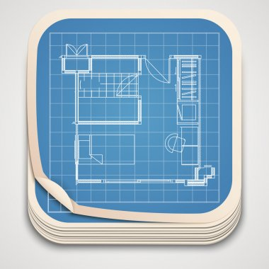 Vector technical drawing icon. stock vector