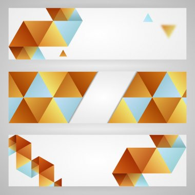 Abstract background with triangles. stock vector