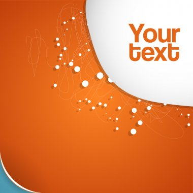 Vector abstract orange background. stock vector