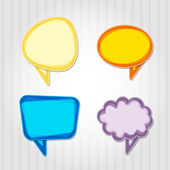 Set of colorful speech bubbles.