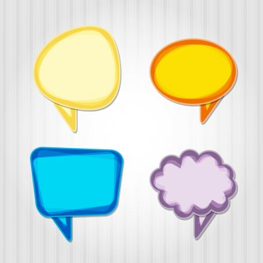 Set of colorful speech bubbles. stock vector