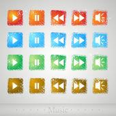 Multimedia buttons,  vector illustration