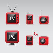 Elektronikus eszközök vektoros ikonok