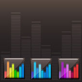 Vektor farbiges Musikspektrum eingestellt