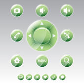 Mobile phone menu icons - vector icon set