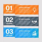 moderní krok za krokem webové prvky. vektorový design infografika