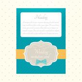 Vector wedding invitation vector illustration
