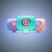 vektorové ikony e-mailu