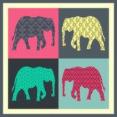 vektor Pohlednice s slon