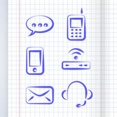 Vektor-Kommunikations-Symbol gesetzt
