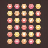 Komunikace ikony nastavit vektorové ilustrace