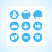 Winter Icons setzen Vektor Illustration