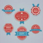 Vásárlás címkék gyűjteménye vektor illusztráció