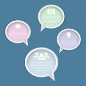 Vektorová ilustrace bublin řeči