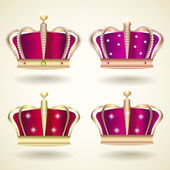 Crown Set vector illustration
