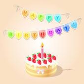 Vektor születésnap kártya vektoros illusztráció