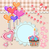 Vektor narozeniny karty vektorové ilustrace