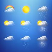 Kolekce ikon počasí vektorů