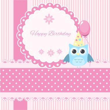 Vector birthday card,  vector illustration stock vector