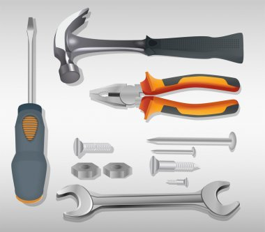 Different Tools. Vector illustration. stock vector