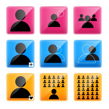 Business man vector icons stock vector