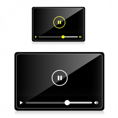 Vector audio video player stock vector