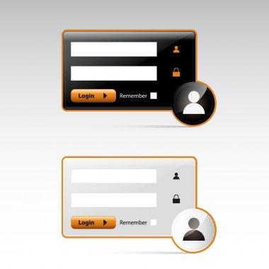 User Login -   vector illustration stock vector