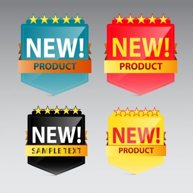 New Product vector label stock vector