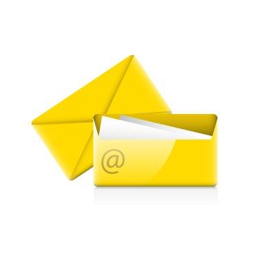 Envelops icon. Vector illustration. stock vector
