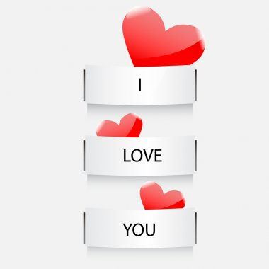 Vector i love you stock vector