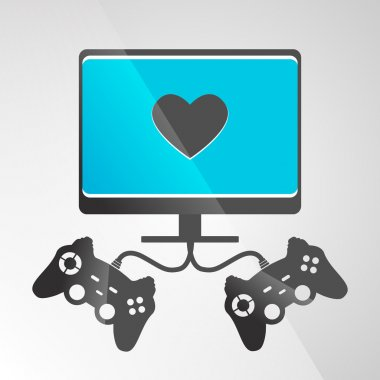 Video game console. Vector stock vector