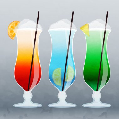 Vector cocktails vector illustration stock vector