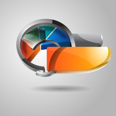 Abstract vector glossy icon stock vector