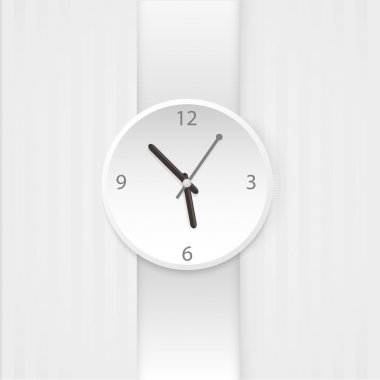 Vector wristwatch isolated on the white background stock vector