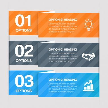 Modern Step By Step Web Elements. Vector Design Infographics stock vector