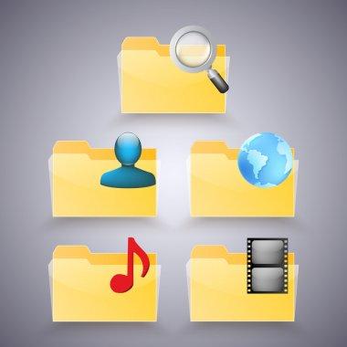 Folder icons vector illustration stock vector