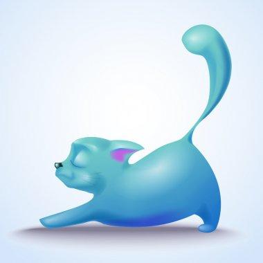 Cute vector cat vector illustration stock vector