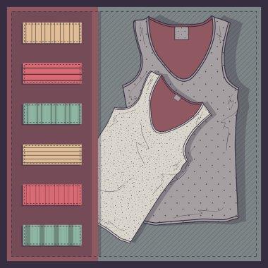 Women's t-shirt vector illustration. stock vector