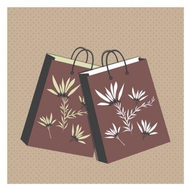 Vector floral shopping bags stock vector