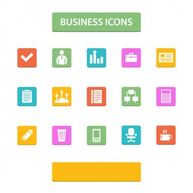 Vector business icons vector illustration stock vector