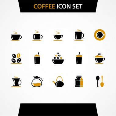 Vector coffee icons set. stock vector