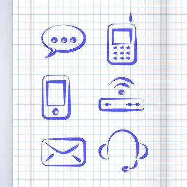 Vector communication icon set stock vector