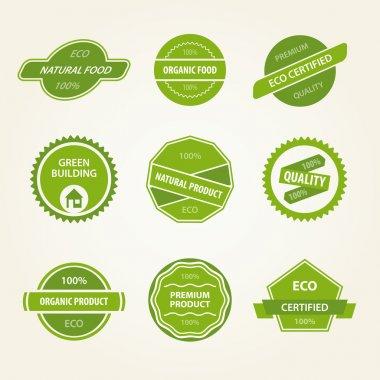 Set of organic vector labels stock vector