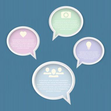 Speech bubbles set vector illustration stock vector