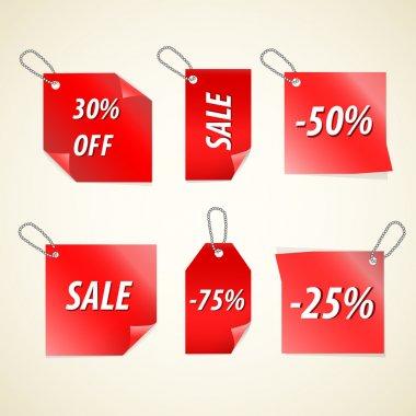 Vector Sale Tags vector illustration stock vector