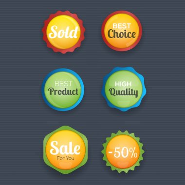 Shopping labels collection vector illustration stock vector