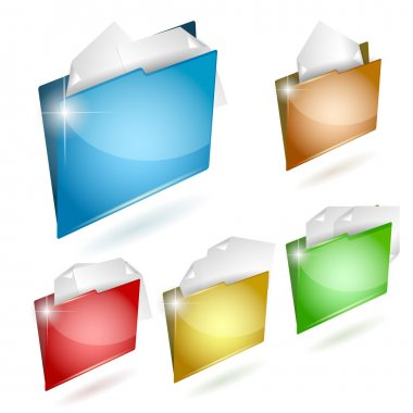 Folder icon set. Vector illustration stock vector
